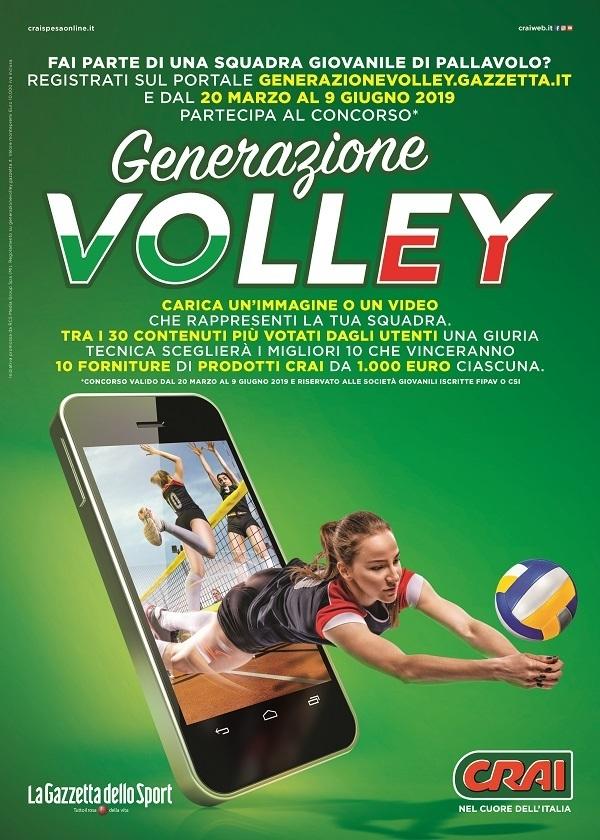 """Crai, al via il concorso """"Generazione Volley"""""""