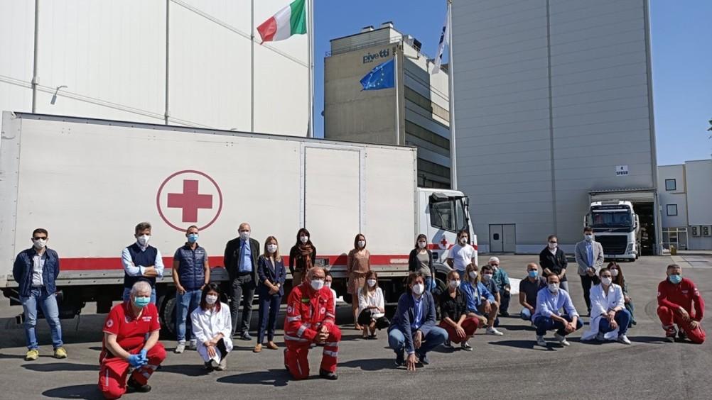 Molini Pivetti dona 25 tonnellate di farina alla Cri a sostegno di 20.000 famiglie