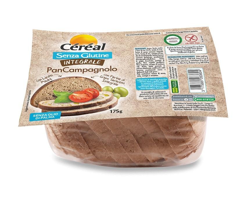 In arrivo il PanCampagnolo della Linea Céréal senza glutine integrale