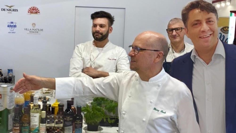 De Nigris insieme allo chef stellato Heinz Beck al Gulfood 2020