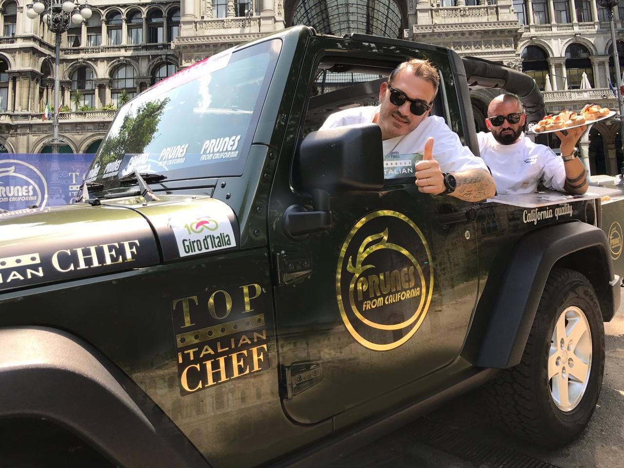 Le Prugne della California e Top Italian Chef al traguardo del 100° Giro d'Italia