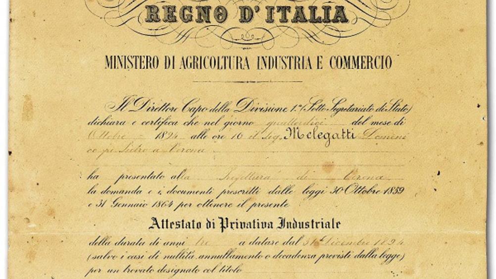 Brevetto Pandoro Originale Melegatti