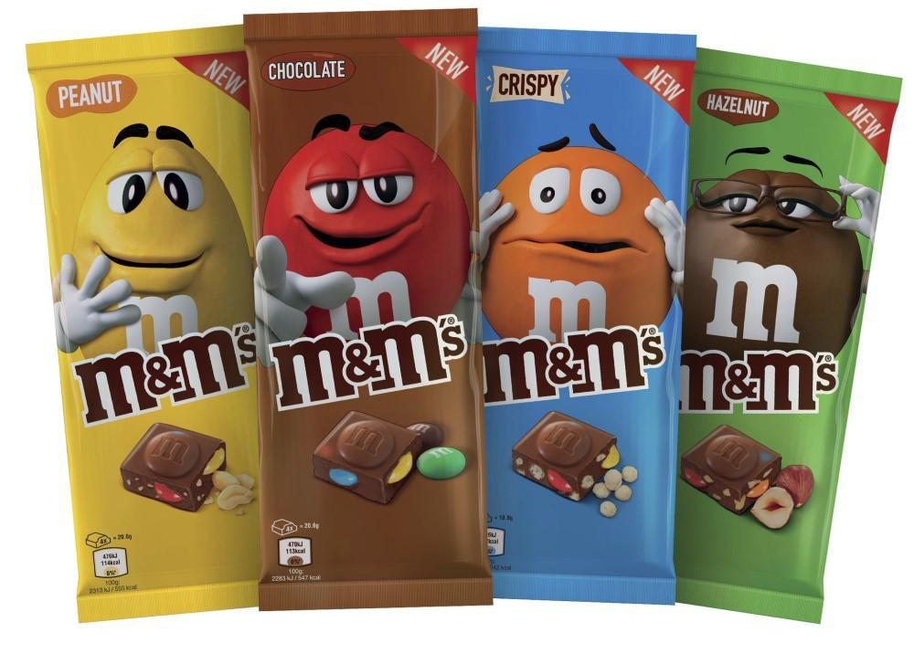 M&M's: in arrivo le nuove tavolette di cioccolato