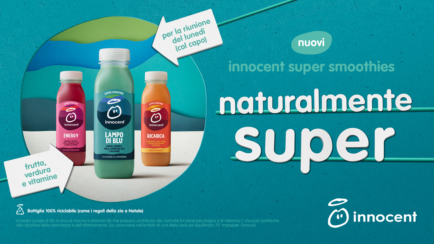 "Una bevanda ""naturalmente super"": la risposta di Innocent con i suoi super smoothie"