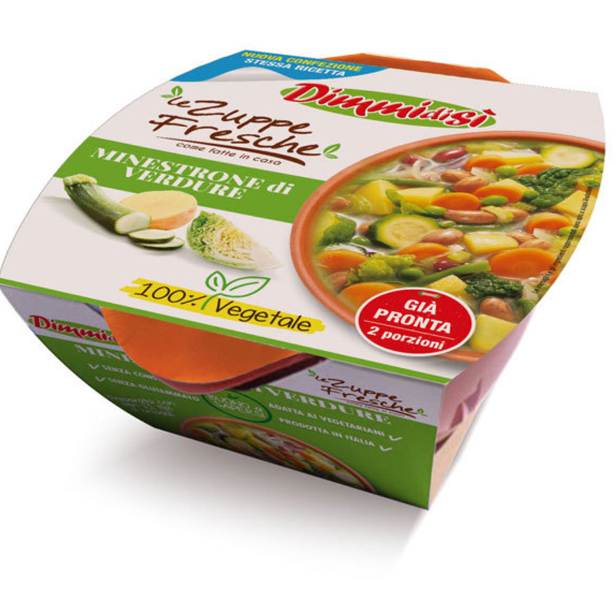Le zuppe fresche Dimmidisì alla ribalta. Restyling grafico e ritorno in TV
