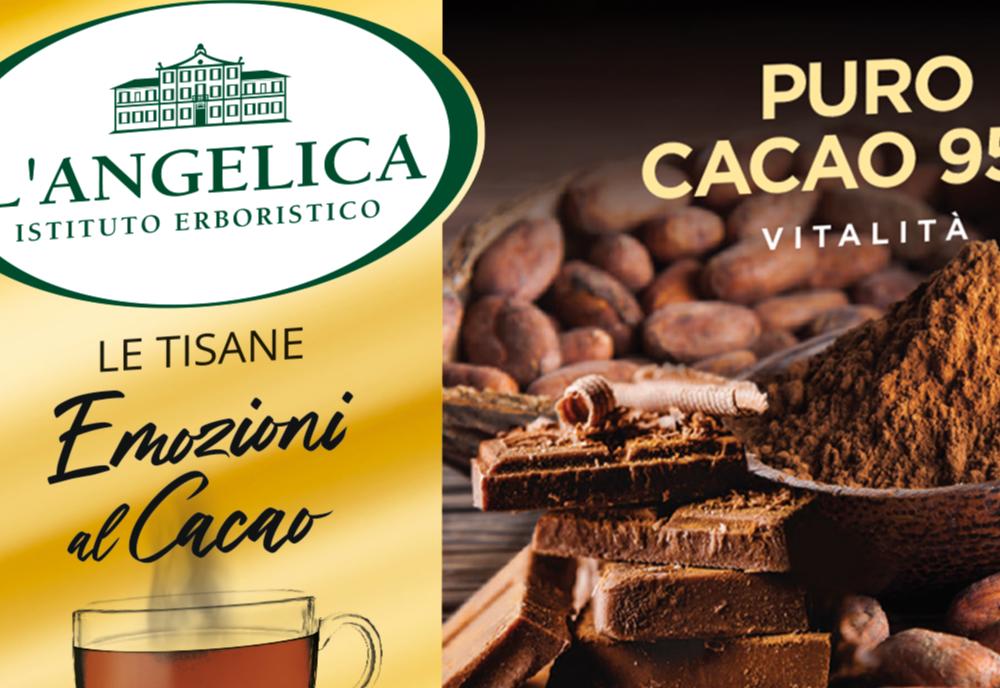 """L'Angelica propone le tre tisane di """"Emozioni al cacao"""""""