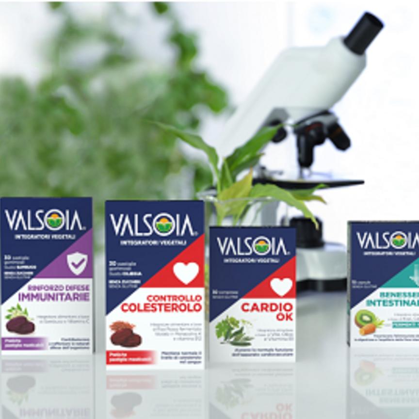 Valsoia entra nel mercato degli integratori con una linea vegetale, 100% naturale, per la Gdo