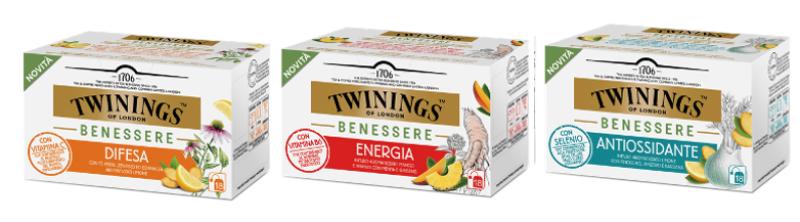 Twinings: la nuova linea di tisane Twinings benessere