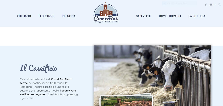 Nuova brand identity per Caseificio Comellini