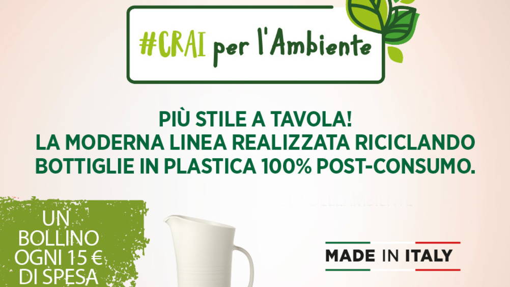 "#Crai per l'ambiente: la nuova short collection ""ecosostenibile"" firmata ""Circle made in Guzzini"""