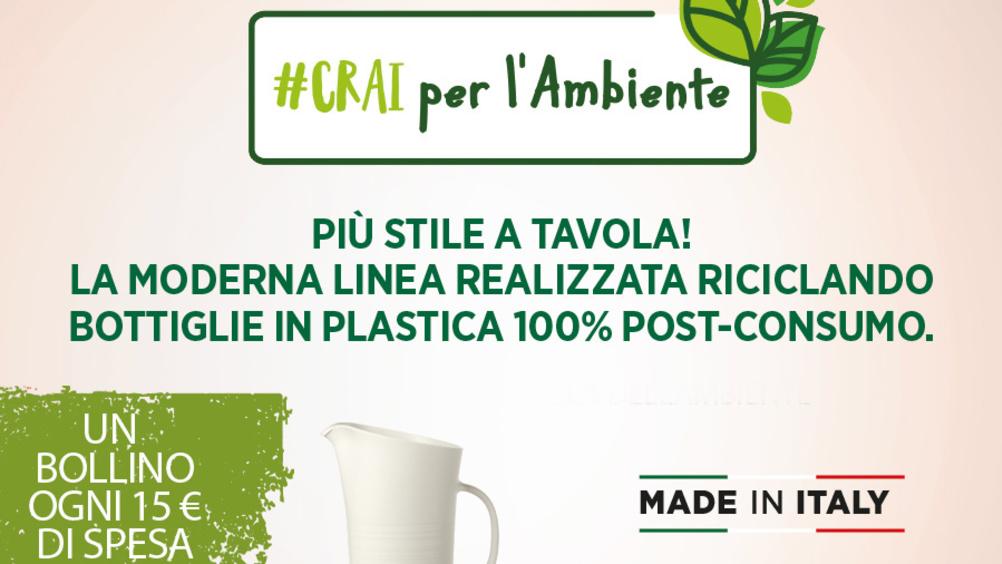 """#Crai per l'ambiente: la nuova short collection """"ecosostenibile"""" firmata """"Circle made in Guzzini"""""""