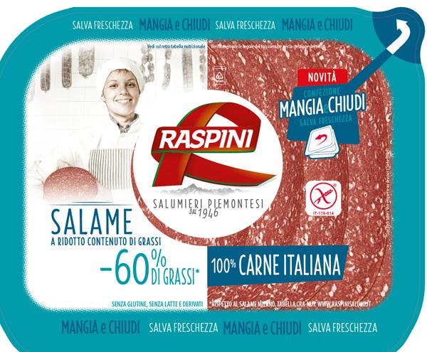 Raspini lancia il salame a ridotto contenuto di grassi