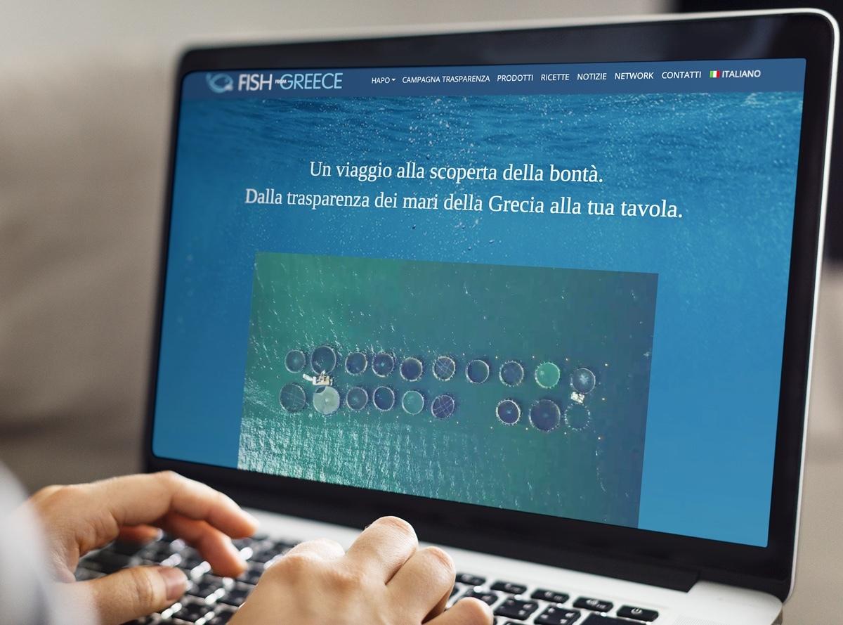 """HAPO porta sulle nostre tavole tutta la qualità del pesce fresco """"firmato"""" Fish From Greece e la trasparenza dei mari della Grecia, oggi ancora più """"vicini"""" grazie al nuovo sito web"""