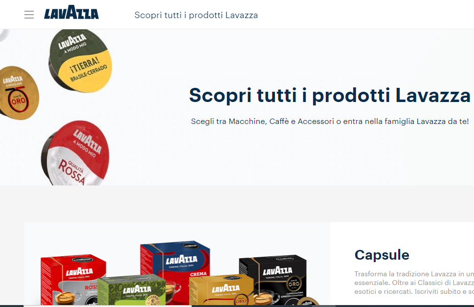 Lavazza partner Nel Master in design for food