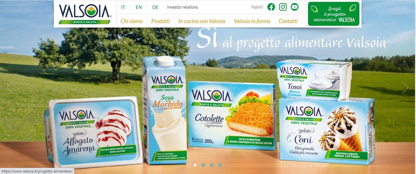 Valsoia: finalizzato accordo con Valle' Italia