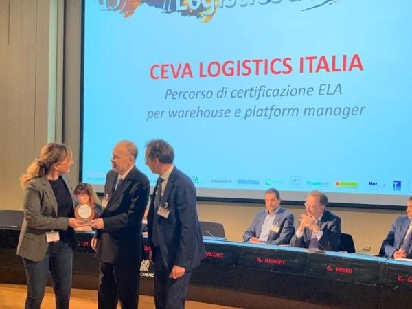 """Ceva Logistics Italia vince il premio """"Il Logistico dell'Anno 2019"""""""