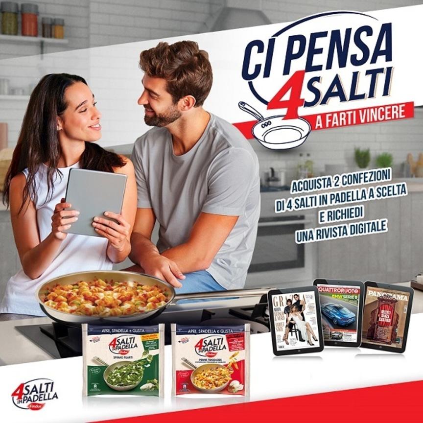 Findus al via la nuova promo 4 salti in padella for Cucinare 4 salti in padella