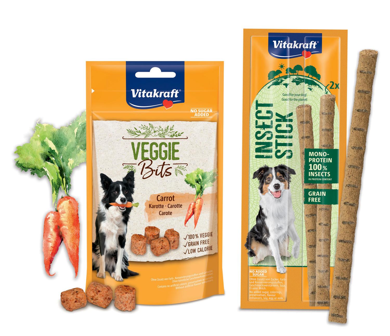 Da Vitakraft due novità per cani: snack vegetariani e con insetti