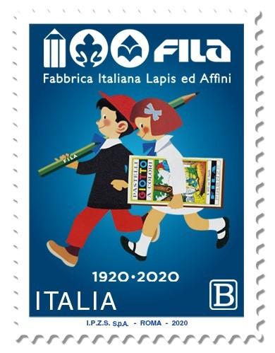 Fila festeggia il centenario con un francobollo celebrativo