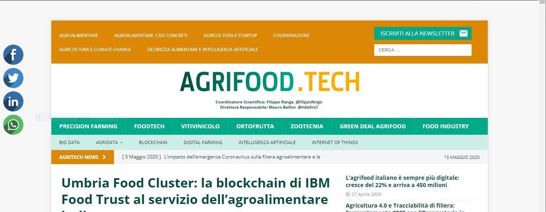 IBM, nasce l'Umbria Food Cluster che utilizza la blockchain per promuovere i prodotti tipici