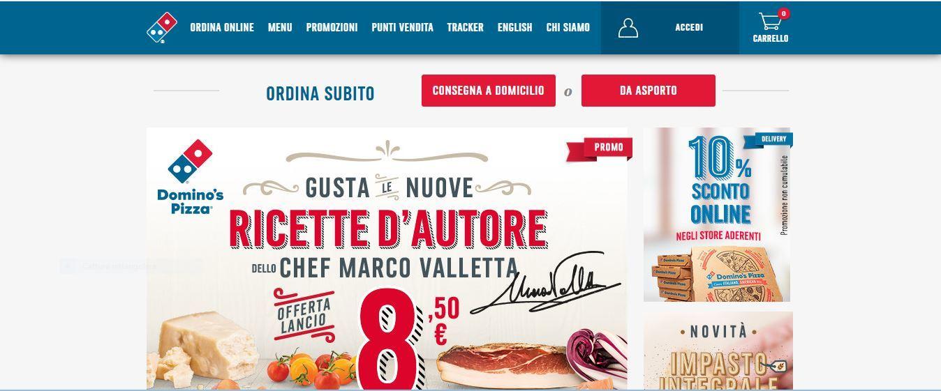 Cambio al vertice di Domino's pizza in Italia