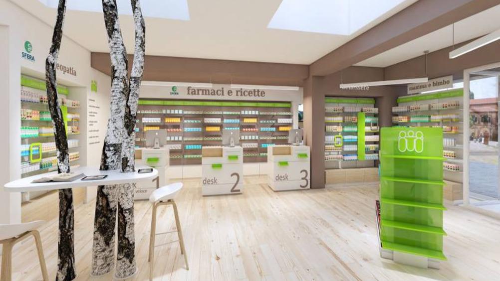 """Cefla Shopfitting veste la nuova """"Farmacia della stazione"""" a Imola"""