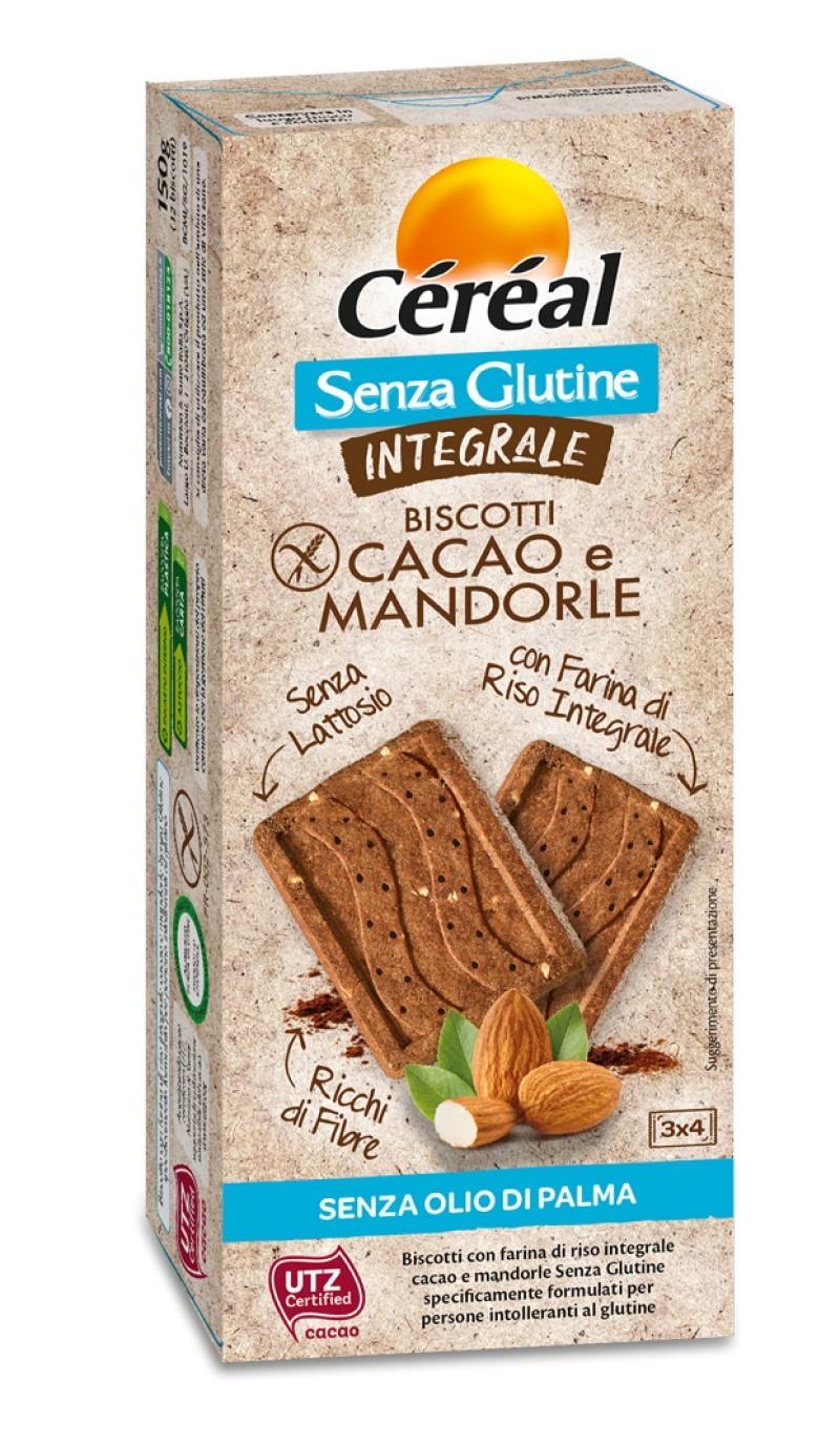 Da Céréal integrale senza glutinei biscotti cacao e mandorle