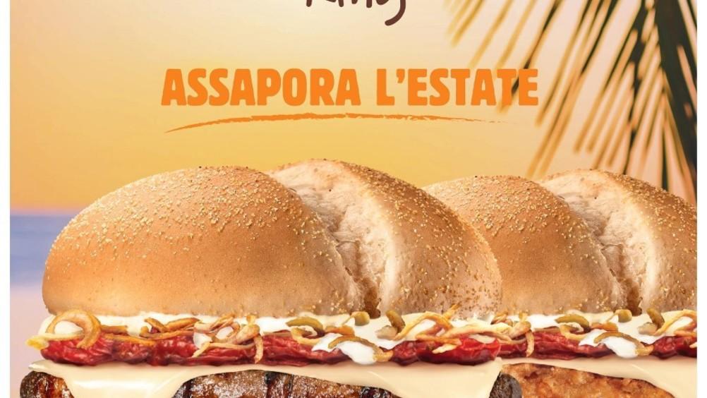 Burger King lancia i summer king con pomodori al forno