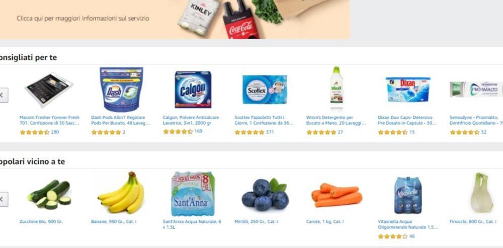 Amazon introduce Amazon Fresh a Roma