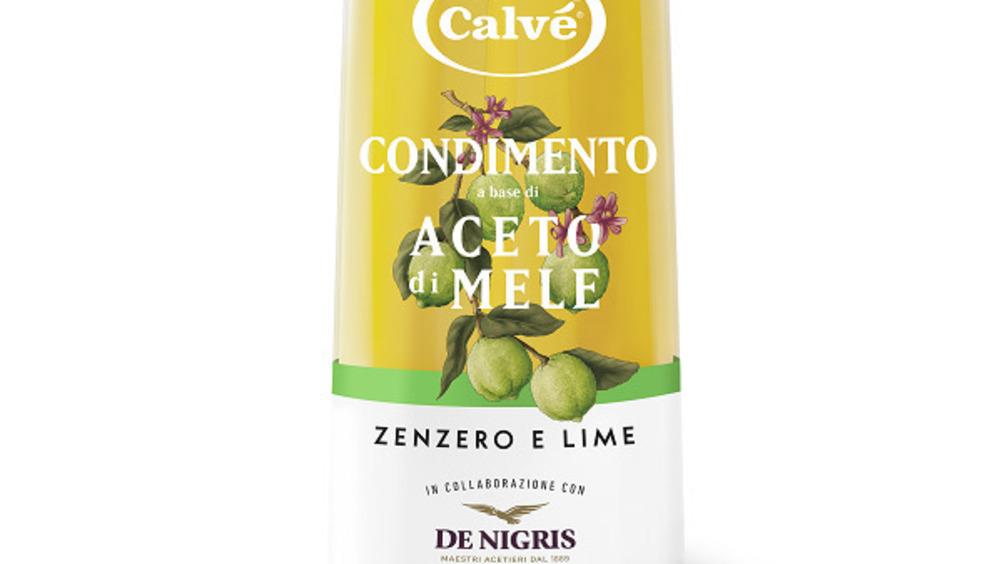 Condimento a base di aceto di Mele con Zenzero e Lime