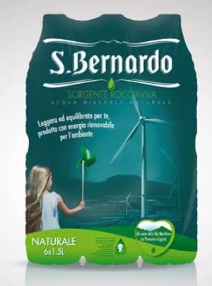 Acqua S.Bernardo si converte al packaging green