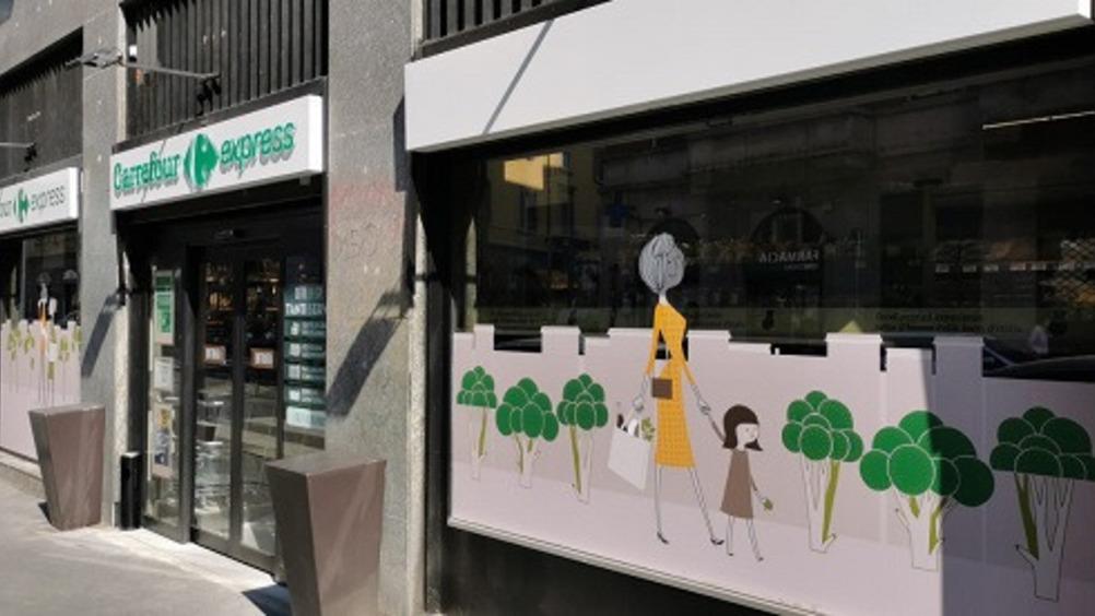 Lo store di Milano, via Coni Zugna