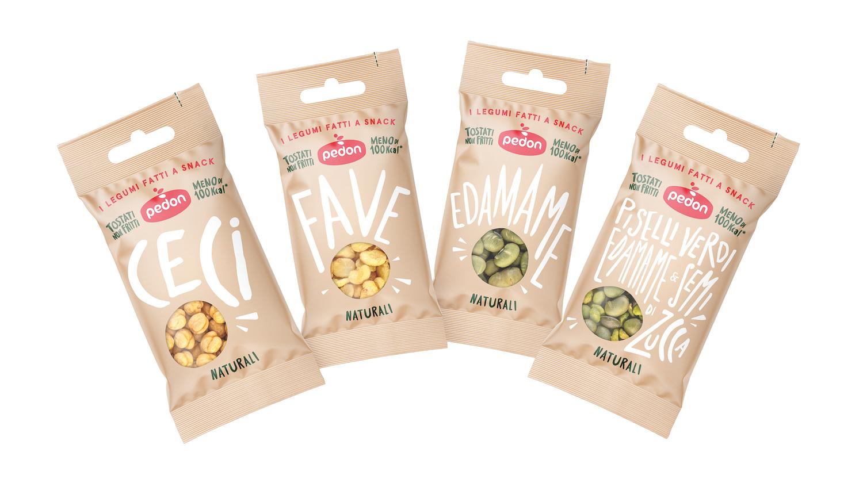 Pedon propone 24 snack benessere a base di legumi