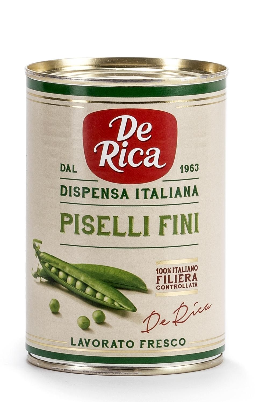 Piselli Fini De Rica, teneri, dolci e coltivati da agricoltori 100% italiani