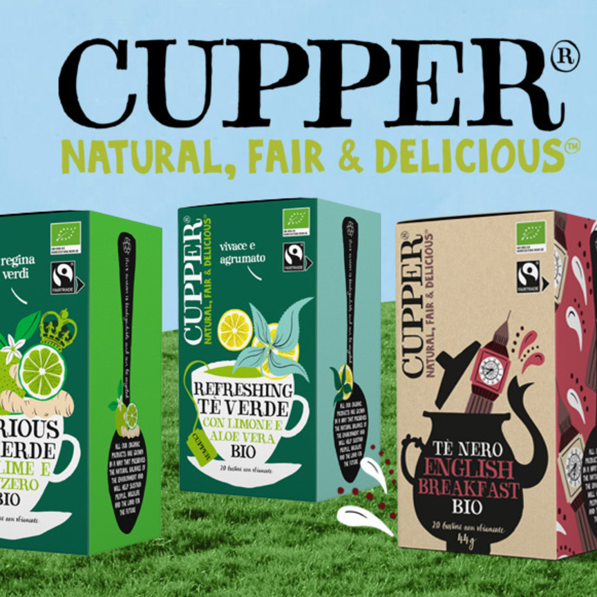 Clipper diventa Cupper e rimane uno dei marchi di tè più sostenibili sul mercato