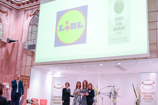 Lidl Italia premiata per le politiche di benessere animale