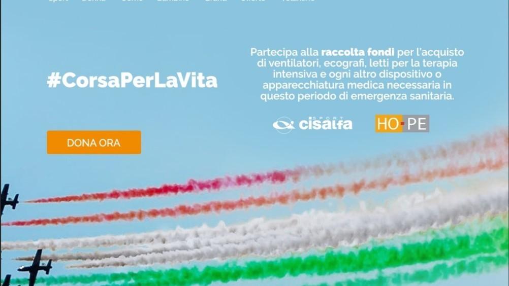 Cisalfa sport supporta Hope onlus con il progetto #corsaperlavita