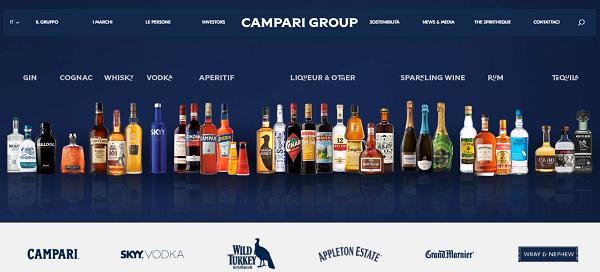 Campari Group rinnova il sito web