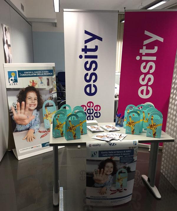 Essity Italia supporta la ricerca contro il cancro a fianco di AIRC
