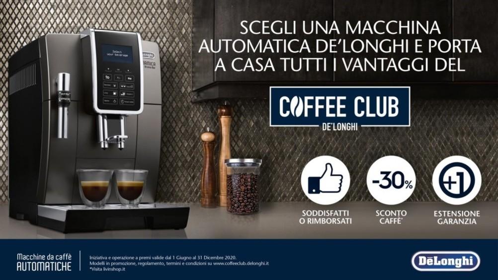 De'Longhi: con il nuovo Coffee club, rilancia e supporta il ritorno dei clienti negli store