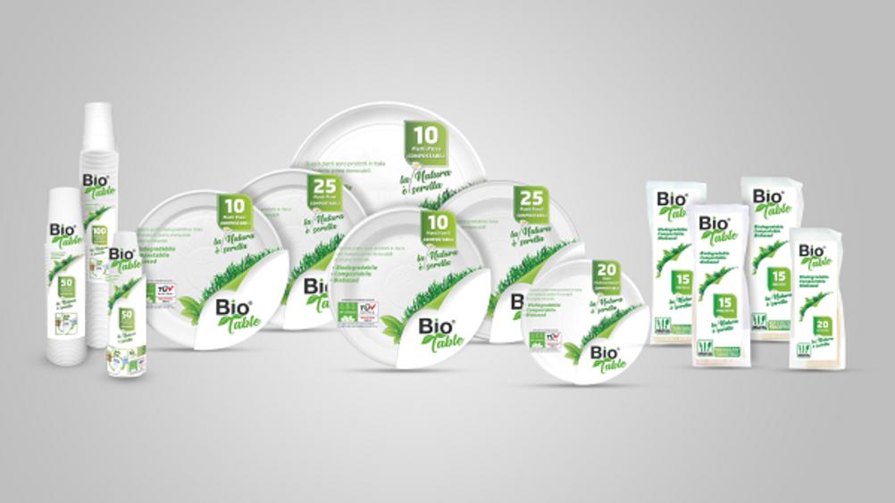Arriva la linea di stoviglie 100% biodegradabili e compostabili Bio Table