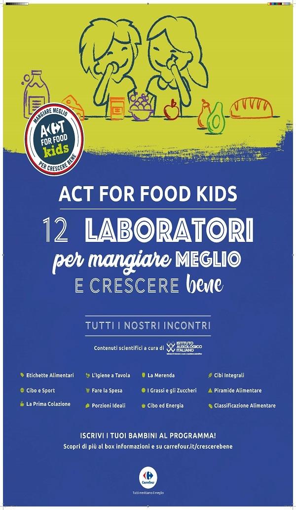 Carrefour Italia promuove la corretta alimentazione infantile