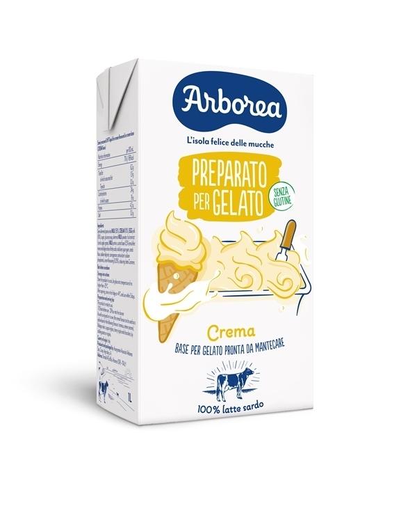 Arborea presenta il preparato per il gelato ai gusti fiordilatte e crema