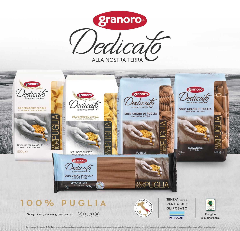 """I prodotti a marchio Granoro """"Dedicato"""" ottengono la certificazione """"pesticide free e glyfosate free"""""""