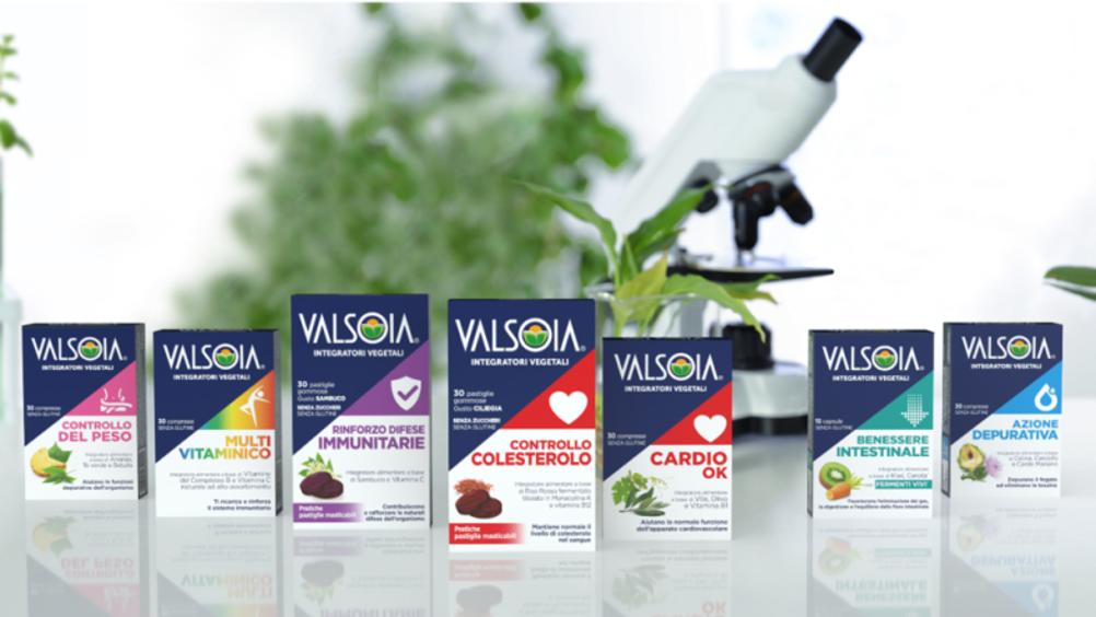 Valsoia presenta la nuova linea di integratori vegetali, con ingredienti 100% naturali, per la Gdo