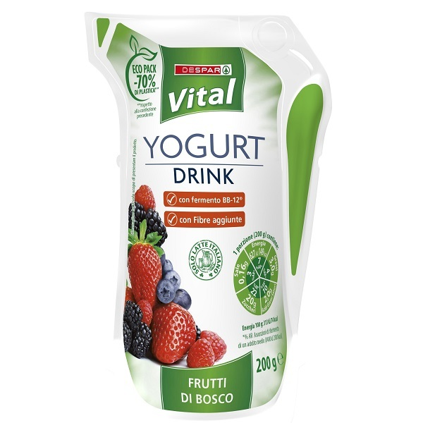 Lo yogurt drink Despar Vital si rifà il look