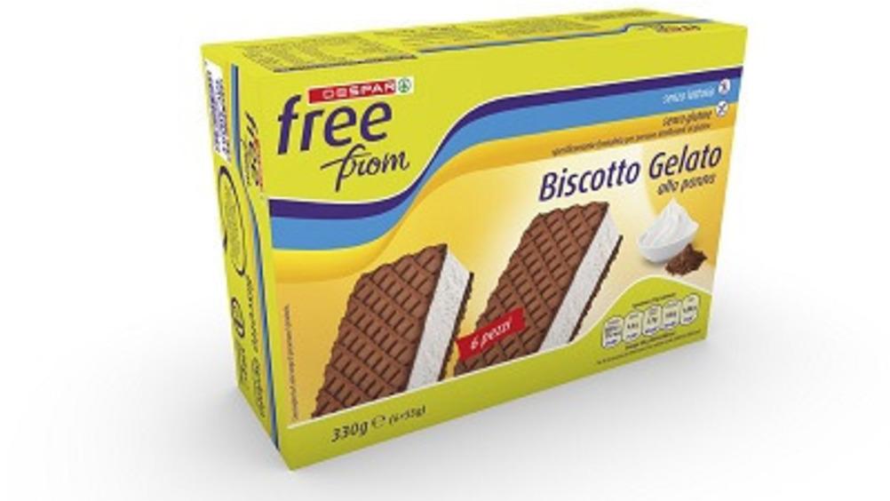 Biscotto gelato senza glutine e senza lattosio Despar Free From