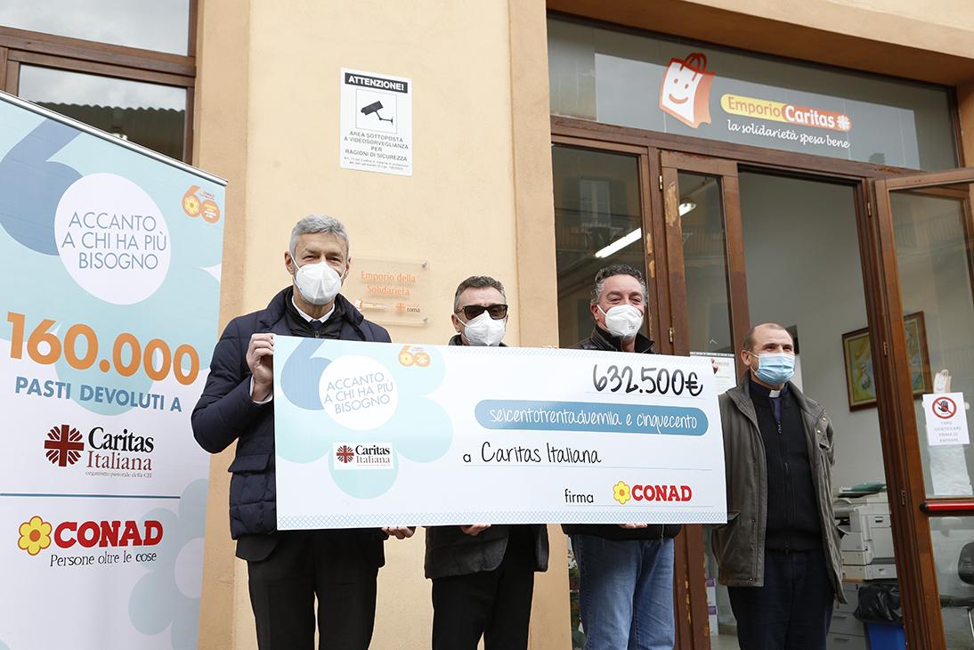 Conad Nord Ovest dona a Caritas Italiana 160.000 pasti