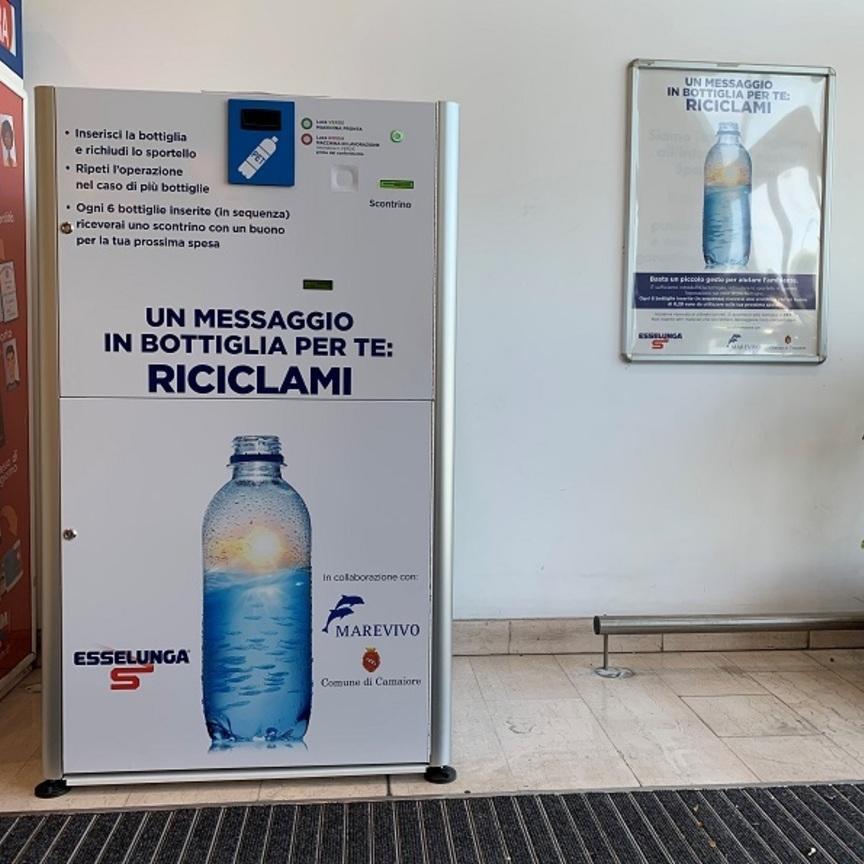 Esselunga installa un eco-compattatore di bottiglie in plastica