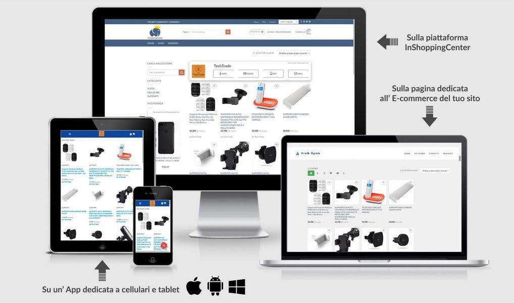 Inaugurata la piattaforma per il commercio elettronico InShoppingCenter, la risorsa tutta italiana per vendere on-line in Europa